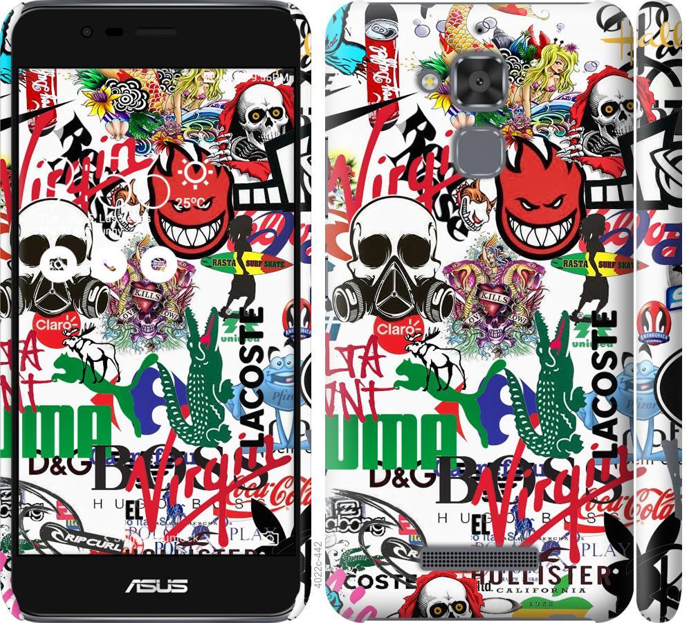 Чохол на Asus Zenfone 3 Max ZC520TL Many different logos