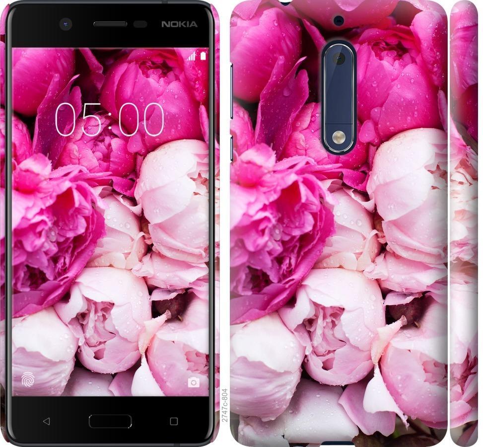 Чехол на Nokia 5 Розовые пионы