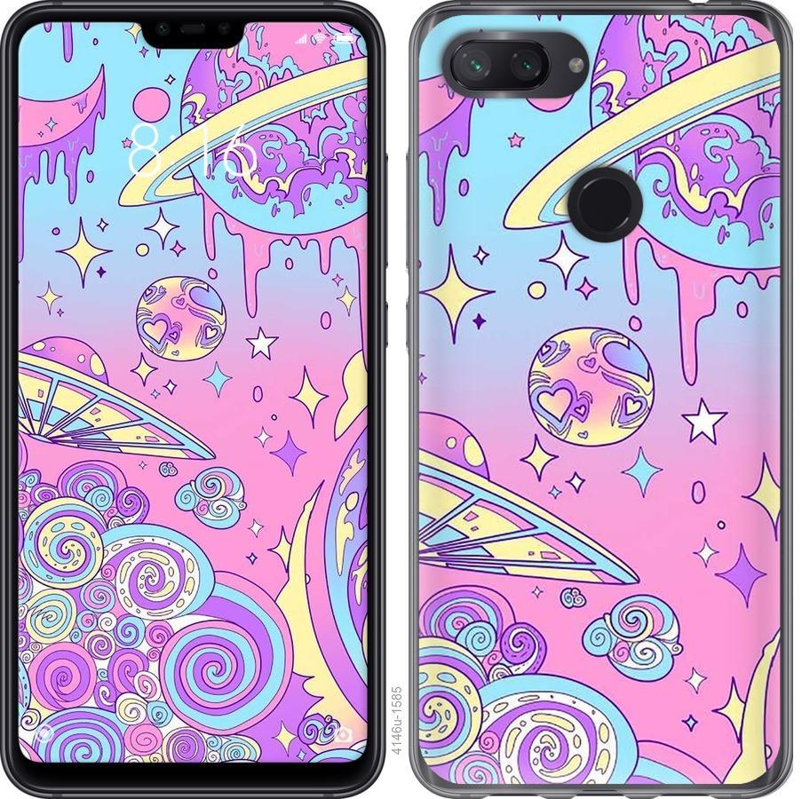 Чехол на Xiaomi Mi 8 Lite Розовая галактика