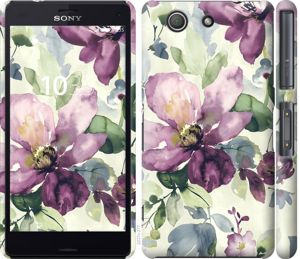 Чехол на Sony Xperia Z3 Compact D5803 Цветы акварелью