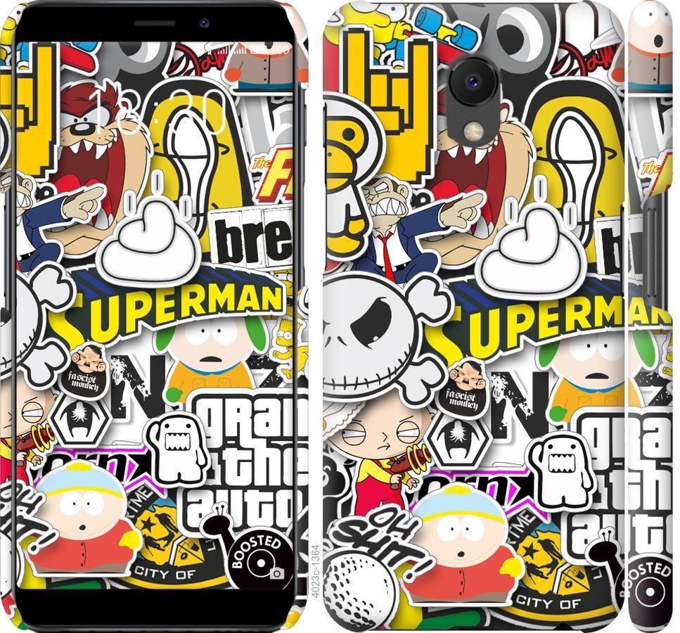 Чехол на Meizu M6s Popular logos
