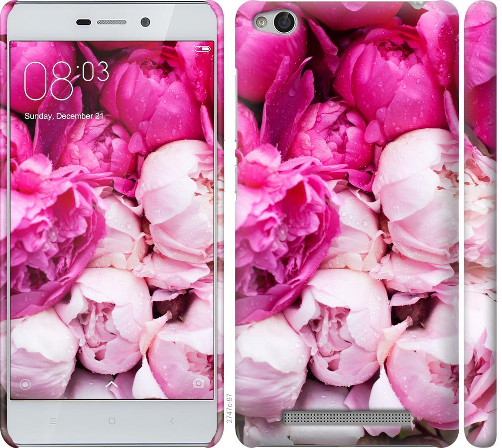 Чехол на Xiaomi Redmi 3 Розовые пионы