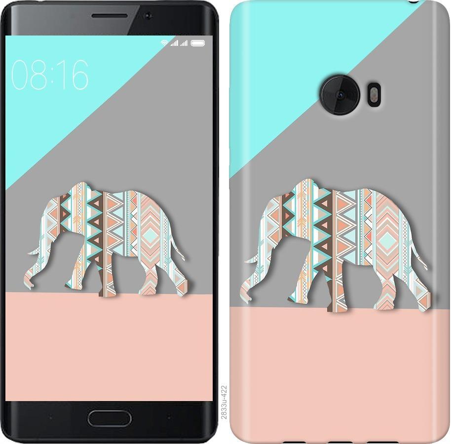 Чехол на Xiaomi Mi Note 2 Узорчатый слон