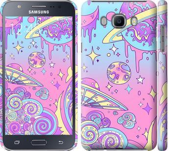 Чехол на Samsung Galaxy J7 (2016) J710F Розовая галактика