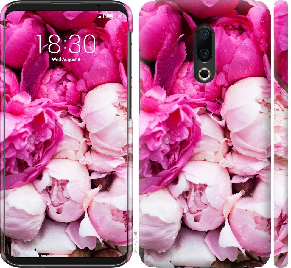 Чехол на Meizu 16 Plus Розовые пионы