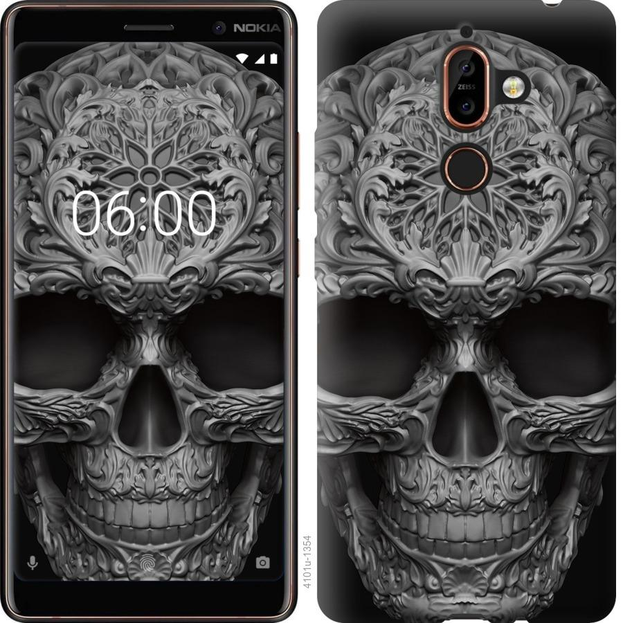Чехол на Nokia 7 Plus skull-ornament