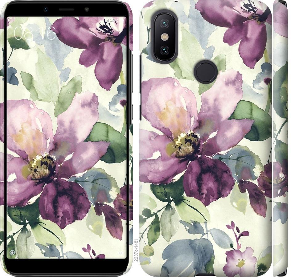 Чехол на Xiaomi Mi A2 Цветы акварелью