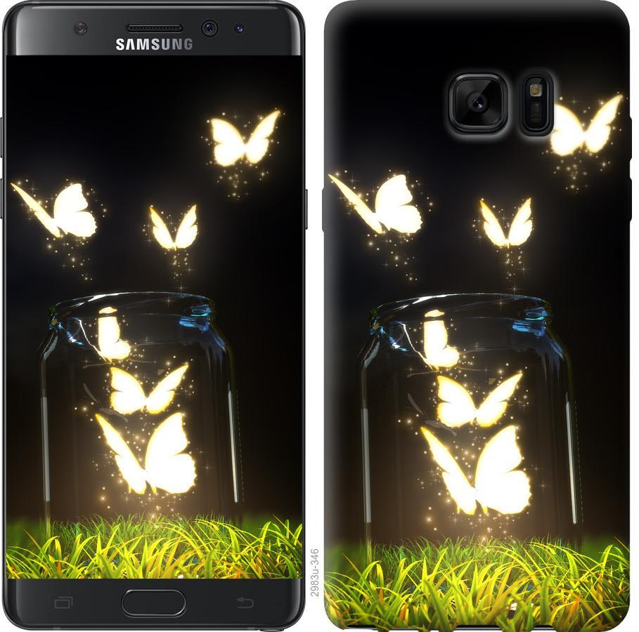 Чохол на Samsung Galaxy Note 7 Duos N930F  Сяючі метелики