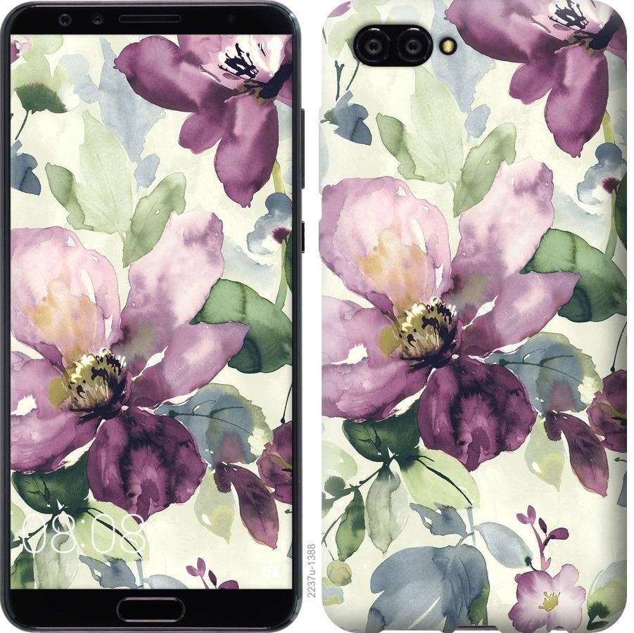 Чехол на Huawei Nova 2S Цветы акварелью