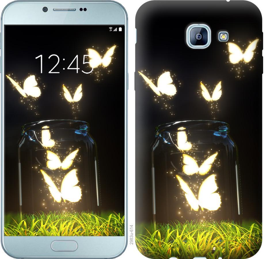 Чехол на Samsung Galaxy A8 (2016) A810 Бабочки
