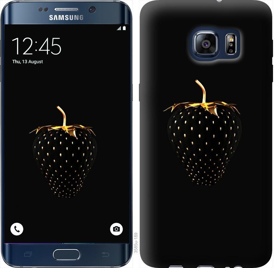 Чехол на Samsung Galaxy S6 Edge Plus G928 Черная клубника
