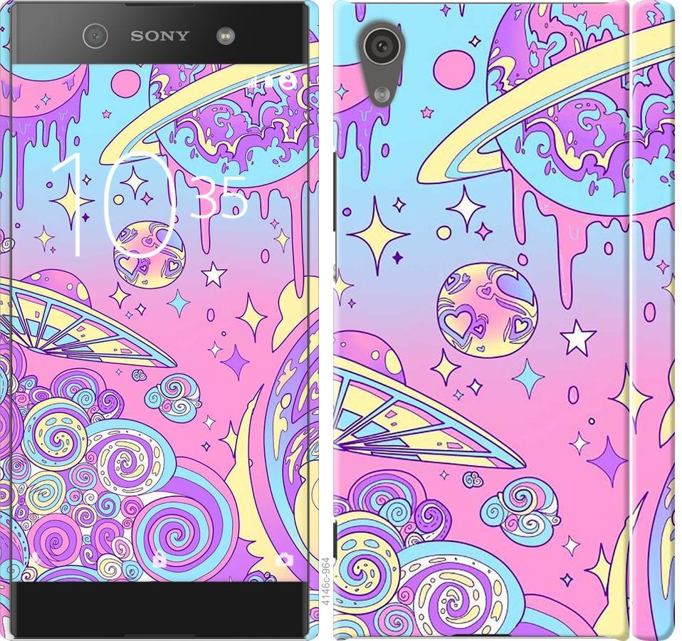Чехол на Sony Xperia XA1 G3112 Розовая галактика