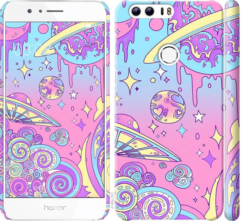 Чохол на Huawei Honor 8 Рожева галактика