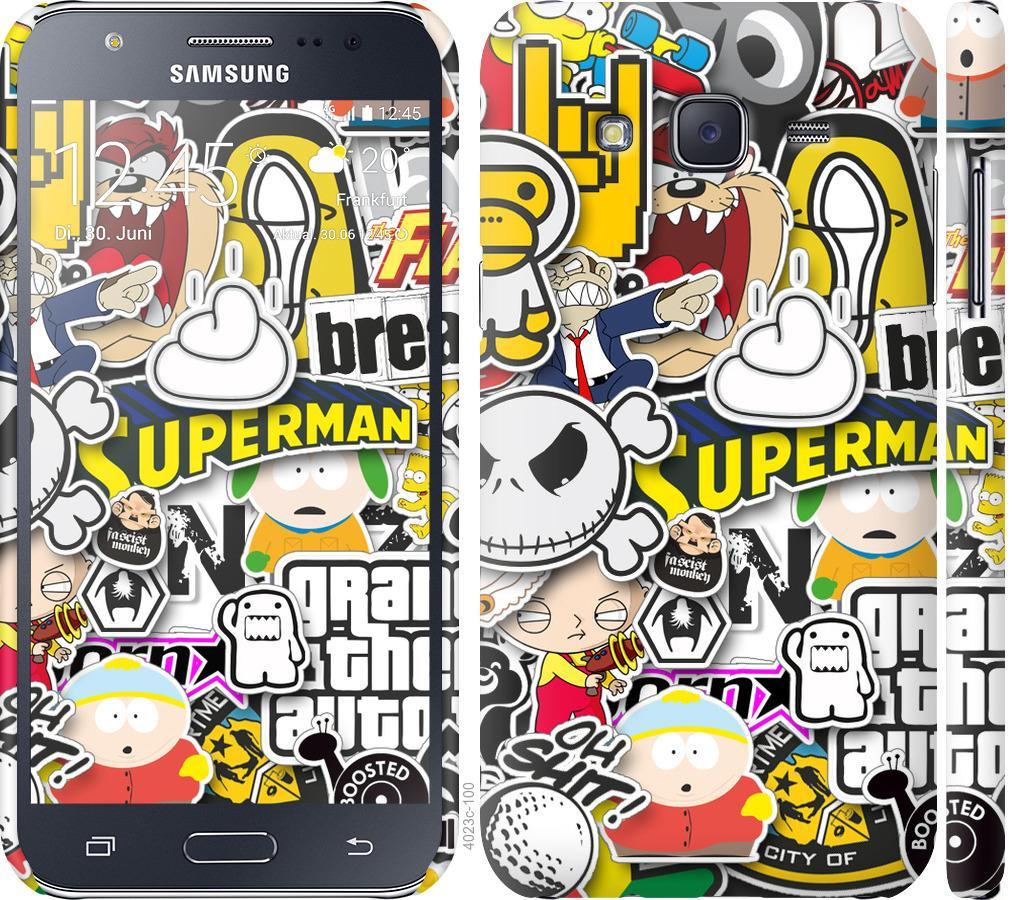 Чехол на Samsung Galaxy J5 (2015) J500H Popular logos