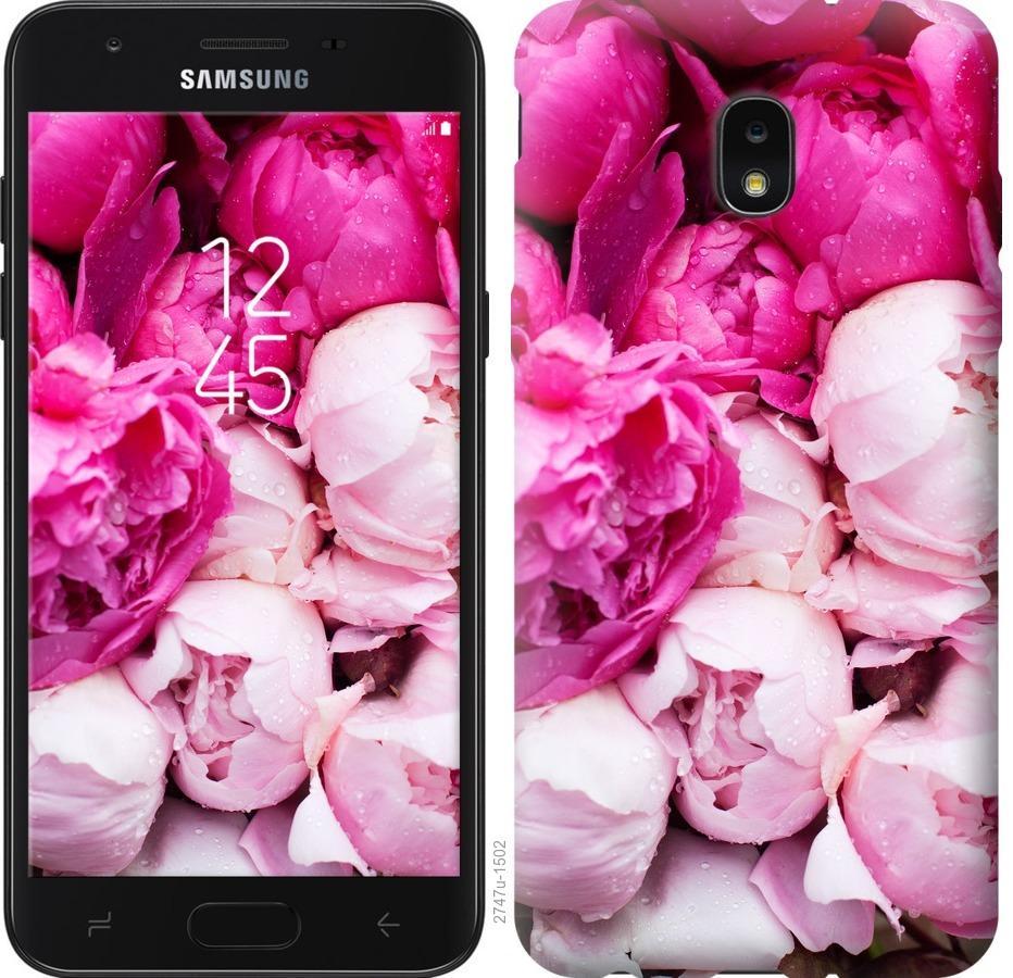 Чехол на Samsung Galaxy J7 2018 Розовые пионы