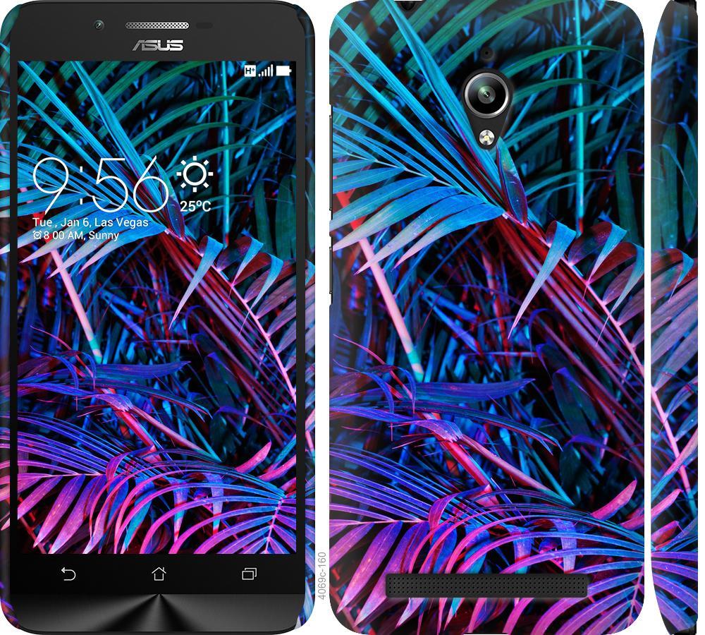 Чехол на Asus Zenfone Go ZC500TG Папоротник под ультрафиолетом