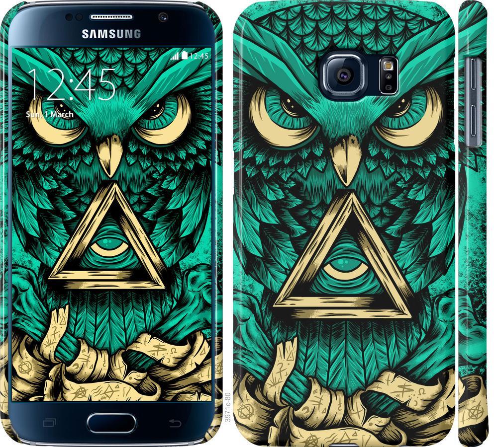 Чехол на Samsung Galaxy S6 G920 Сова Арт-тату