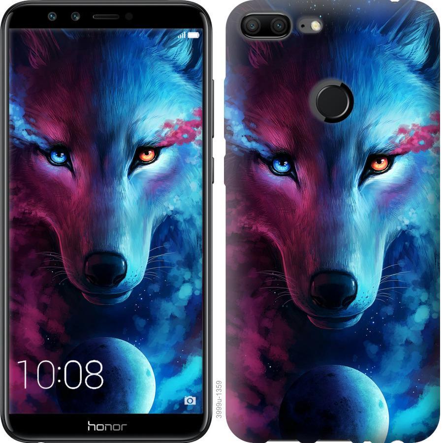 Чехол на Huawei Honor 9i Арт-волк