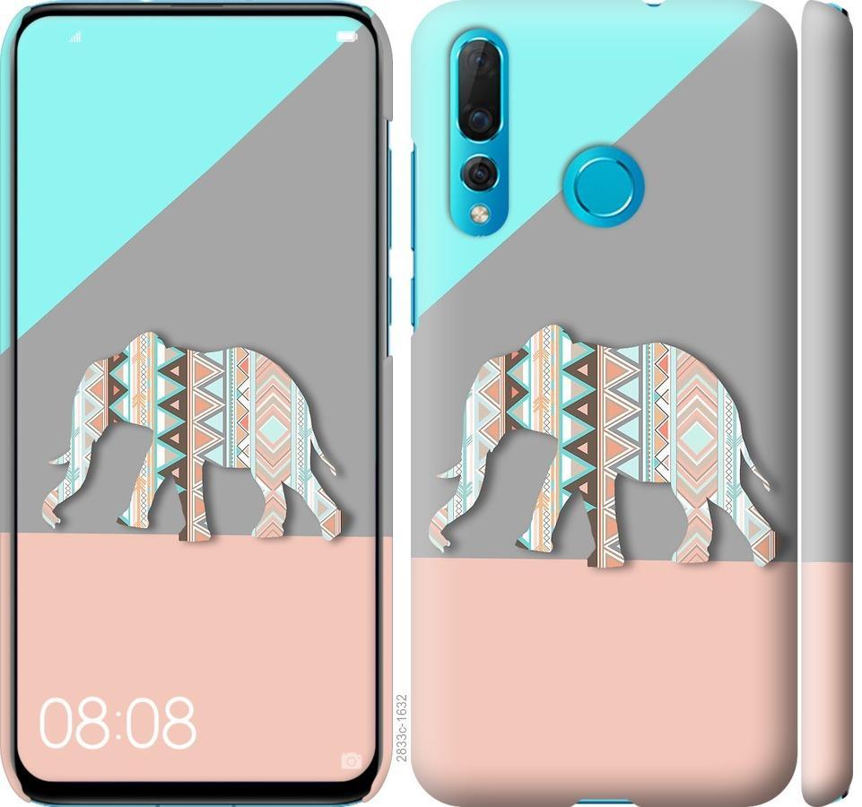 Чехол на Huawei Nova 4 Узорчатый слон