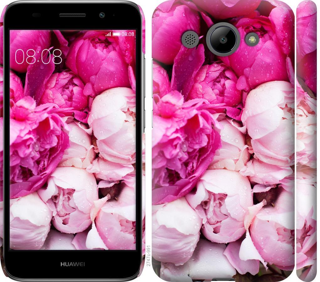 Чехол на Huawei Y3 2017 Розовые пионы