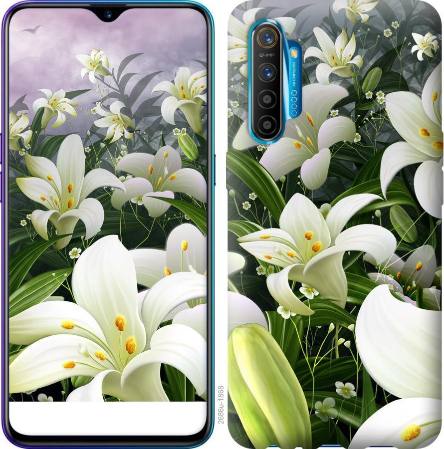 Чехол на Realme XT Белые лилии
