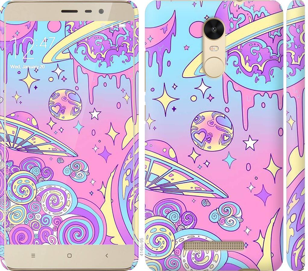 Чохол на Xiaomi Redmi Note 3 Рожева галактика