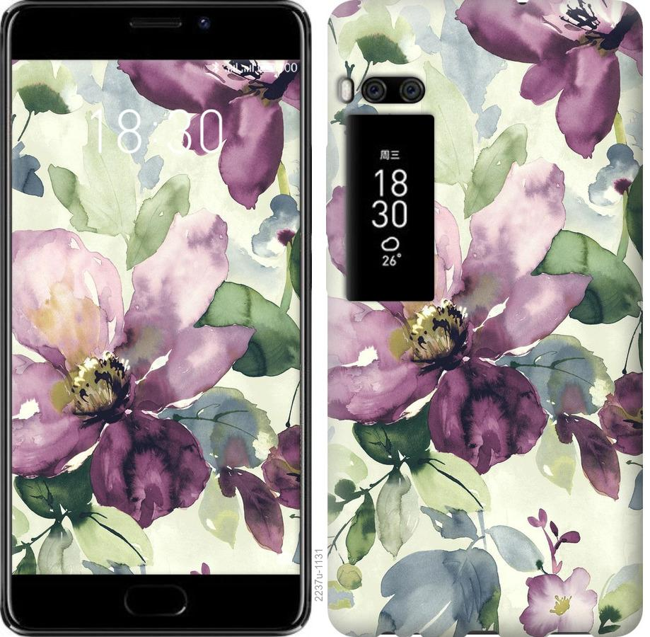 Чехол на Meizu Pro 7 Plus Цветы акварелью