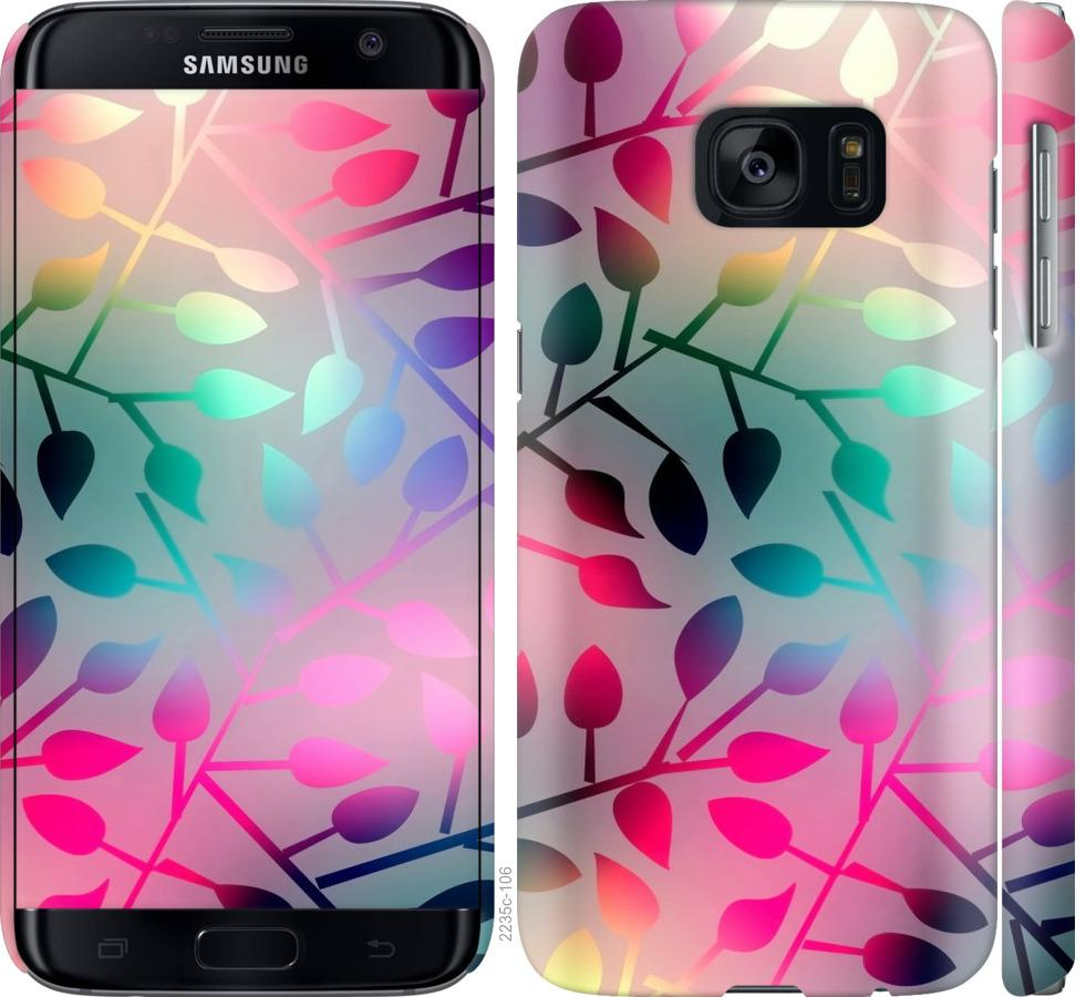 Чехол на Samsung Galaxy S7 G930F Листья