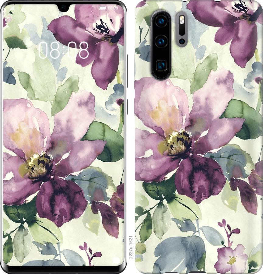 Чехол на Huawei Nova 6SE Цветы акварелью