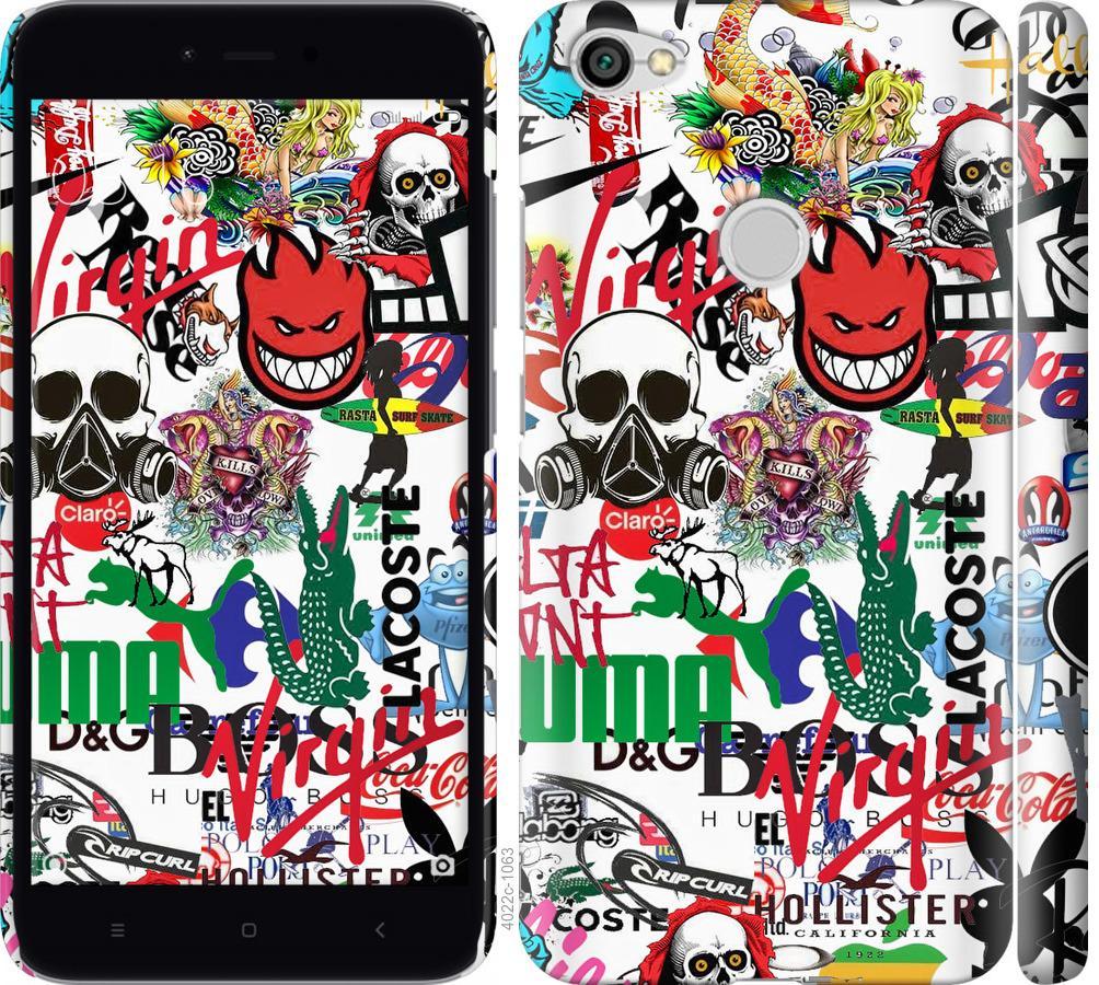 Чехол на Xiaomi Redmi Note 5A Prime Many different logos
