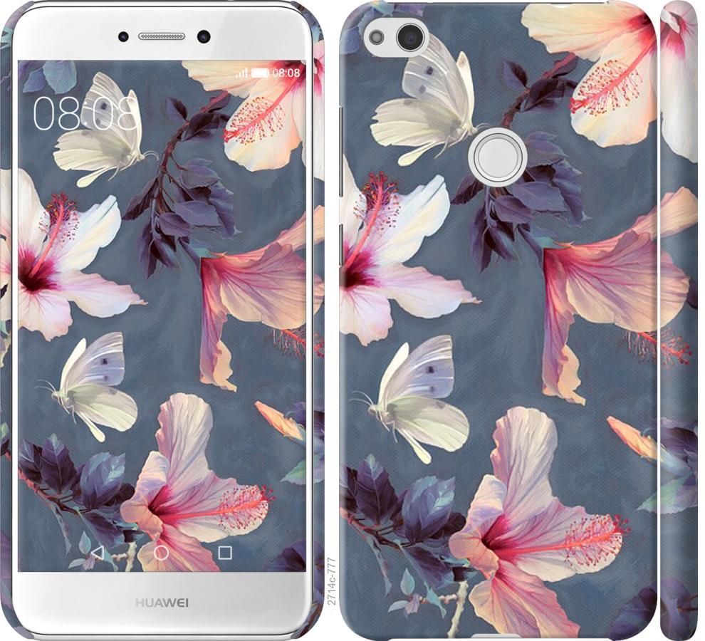Чехол на Huawei P8 Lite (2017) Нарисованные цветы