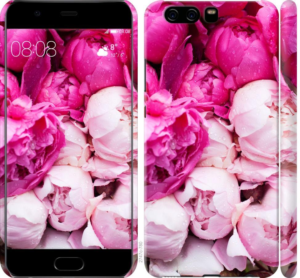 Чехол на Huawei P10 Розовые пионы