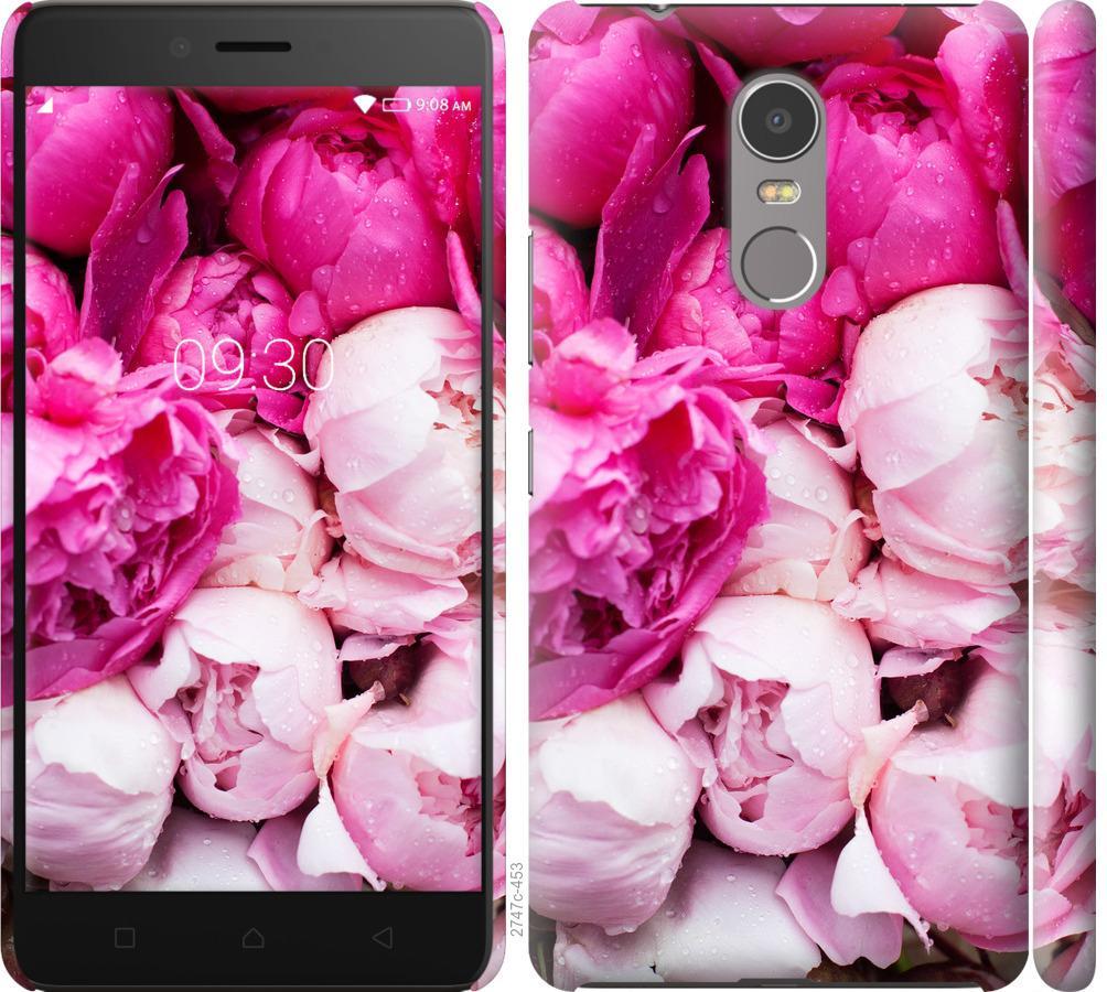 Чехол на Lenovo K6 Note Розовые пионы