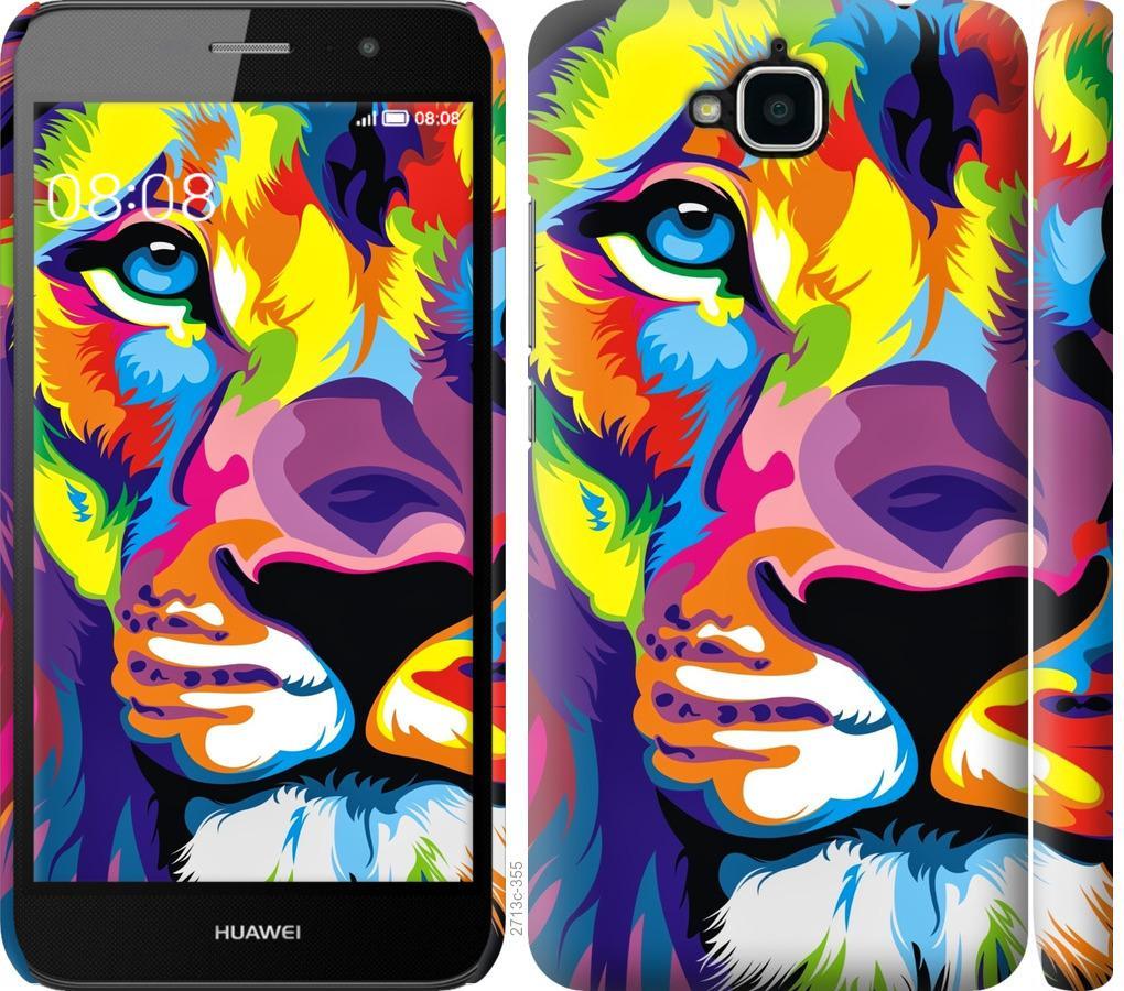 Чехол на Huawei Y6 Pro Разноцветный лев