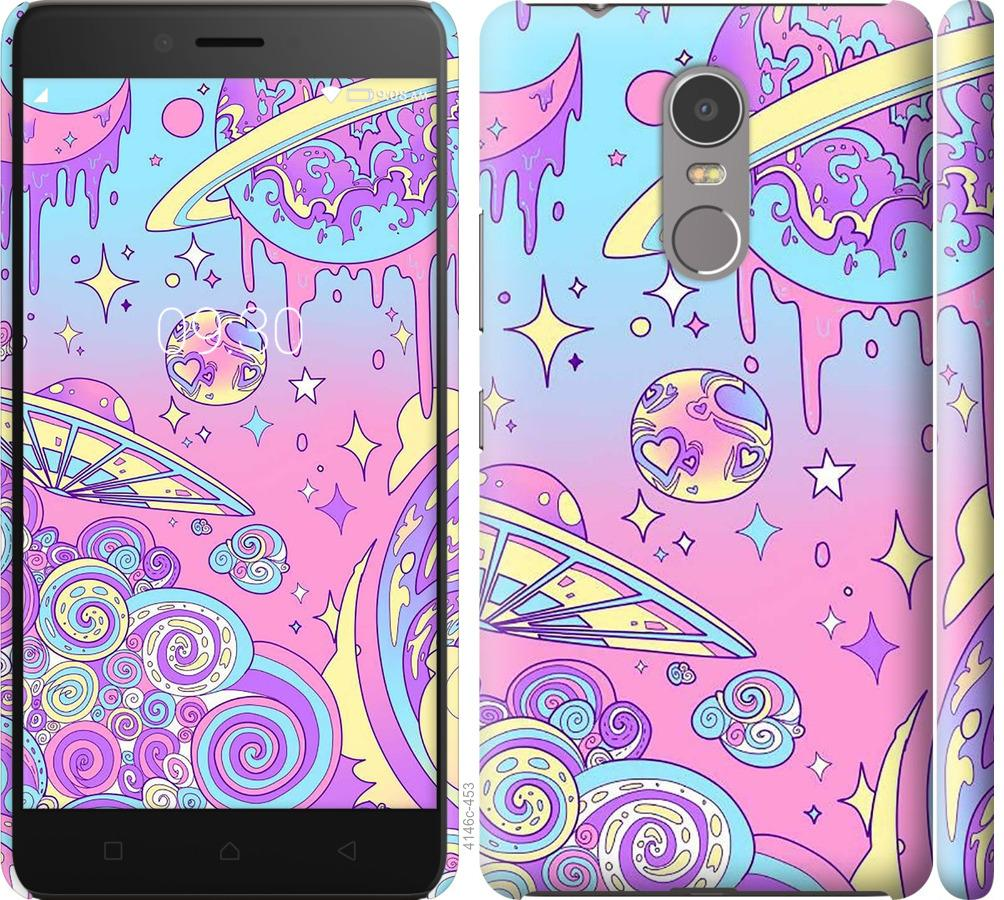 Чехол на Lenovo K6 Note Розовая галактика