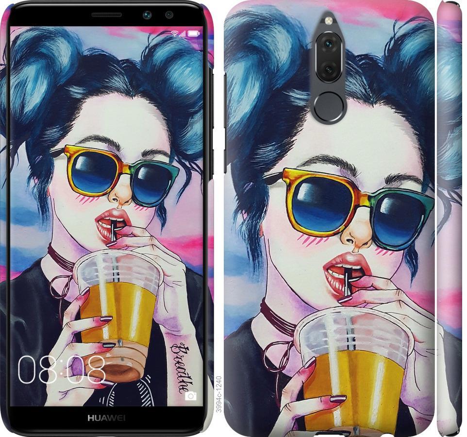 Чехол на Huawei Honor 9i Арт-девушка в очках