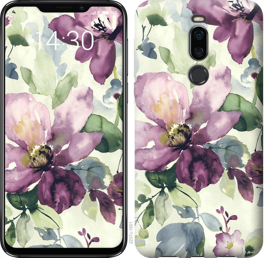 Чехол на Meizu X8 Цветы акварелью