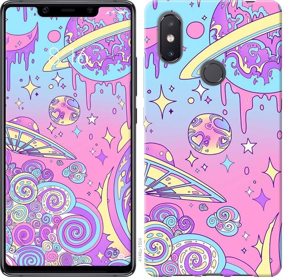 Чехол на Xiaomi Mi8 SE Розовая галактика