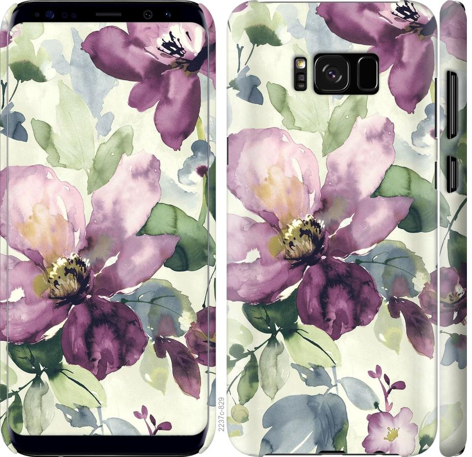 Чехол на Samsung Galaxy S8 Цветы акварелью