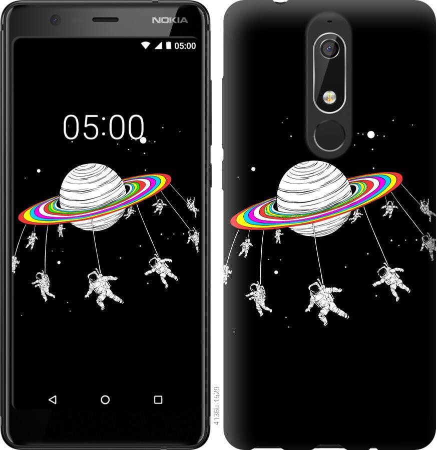 Чехол на Nokia 5.1 Лунная карусель
