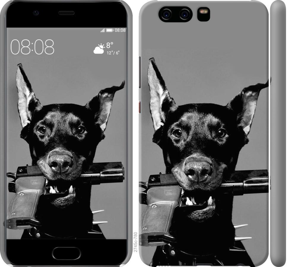 Чехол на Huawei P10 Доберман