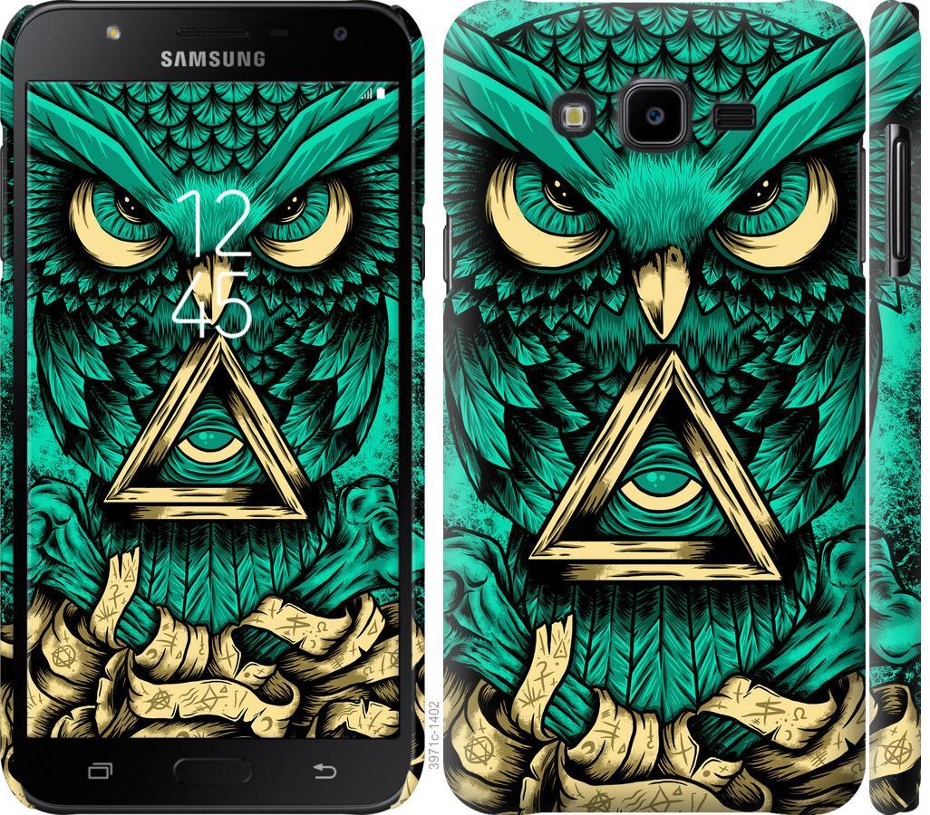 Чехол на Samsung Galaxy J7 Neo J701F Сова Арт-тату
