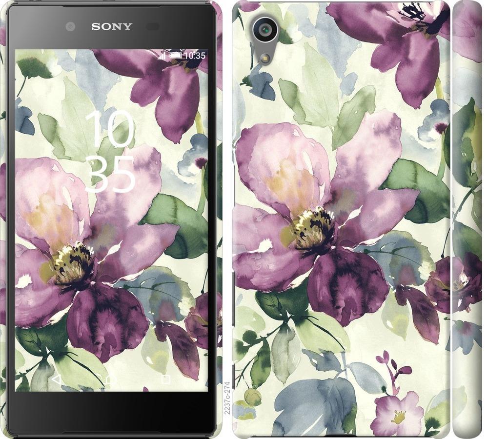 Чохол на Sony Xperia Z5 E6633 Квіти аквареллю