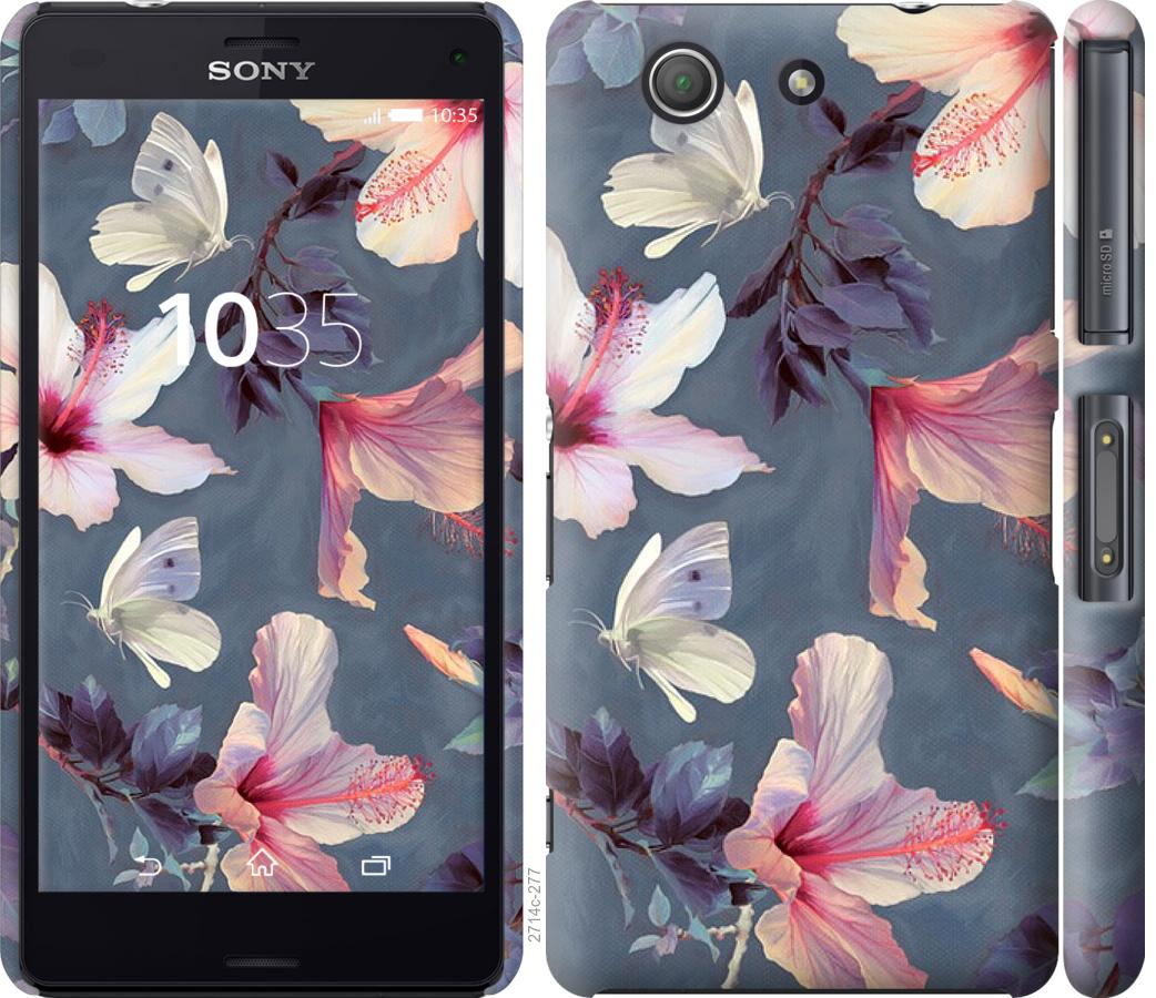 Чехол на Sony Xperia Z3 Compact D5803 Нарисованные цветы
