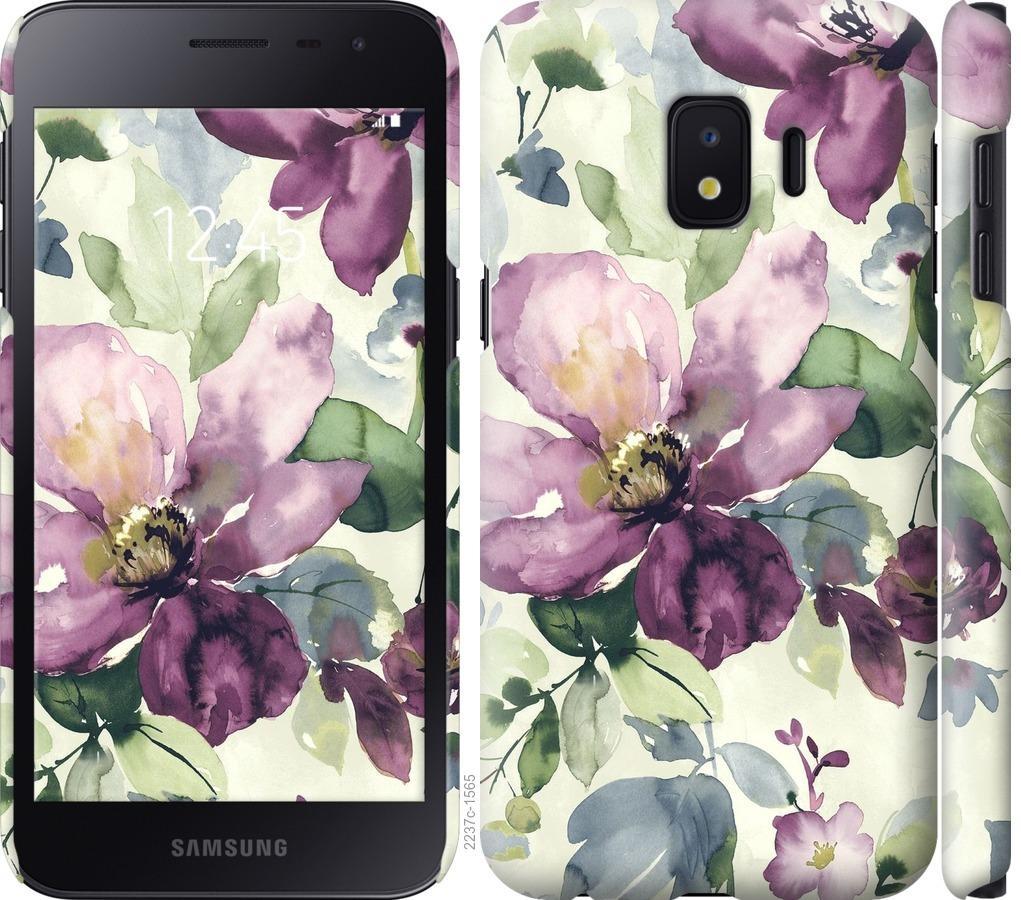 Чехол на Samsung Galaxy J2 Core Цветы акварелью