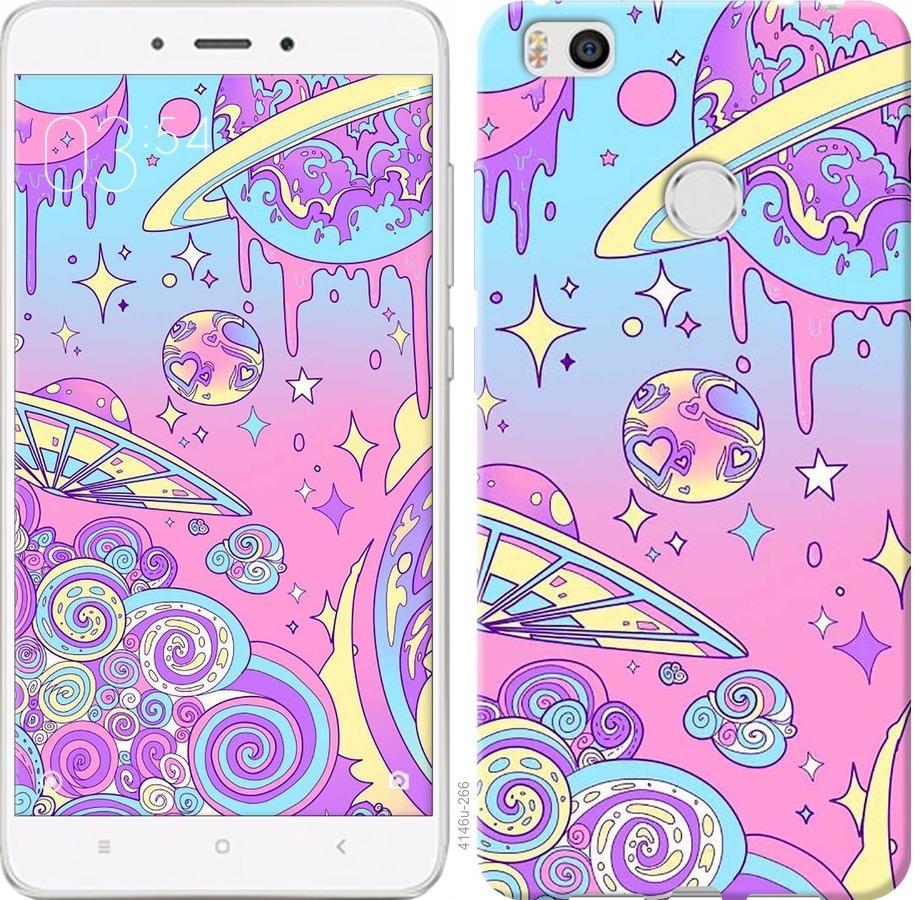 Чехол на Xiaomi Mi4s Розовая галактика