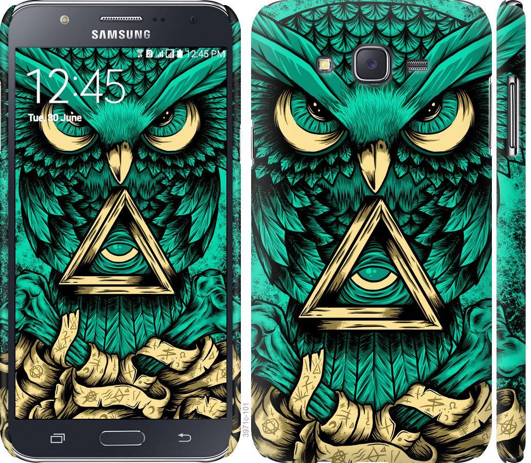 Чехол на Samsung Galaxy J7 J700H Сова Арт-тату