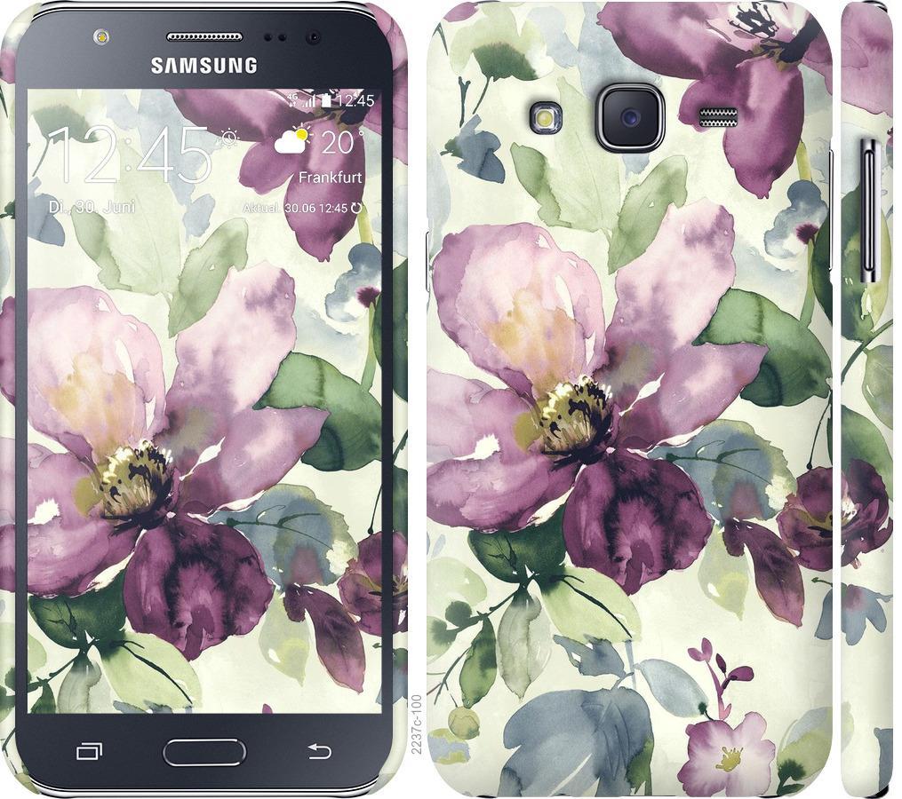 Чохол на Samsung Galaxy J5 (2015) J500H Квіти аквареллю