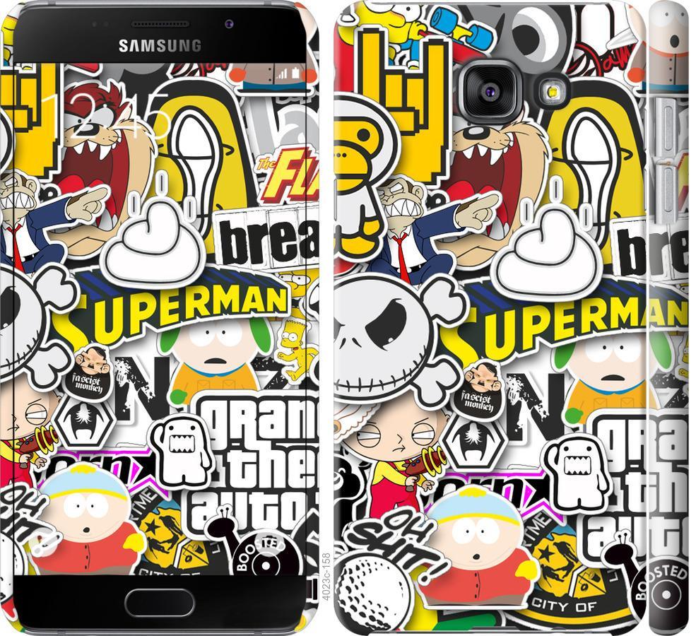 Чехол на Samsung Galaxy A5 (2016) A510F Popular logos