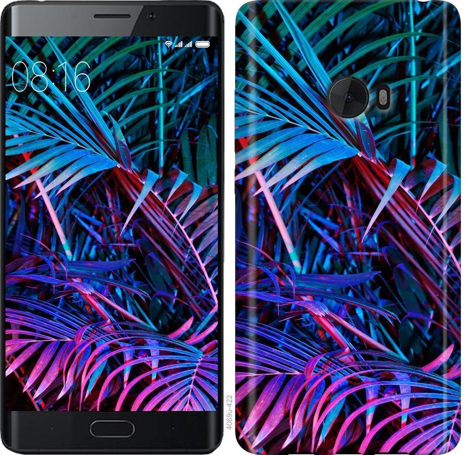 Чехол на Xiaomi Mi Note 2 Папоротник под ультрафиолетом